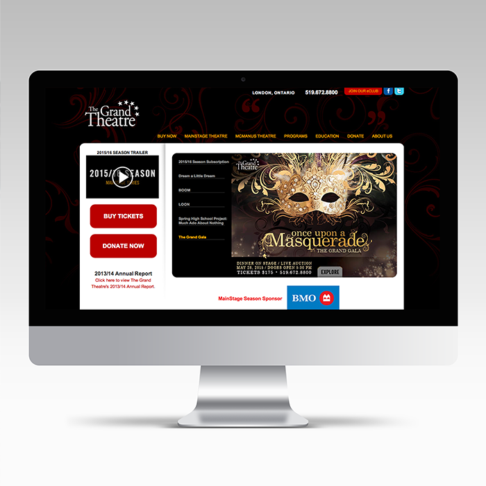 Once Upon a Masquerade Web Slider
