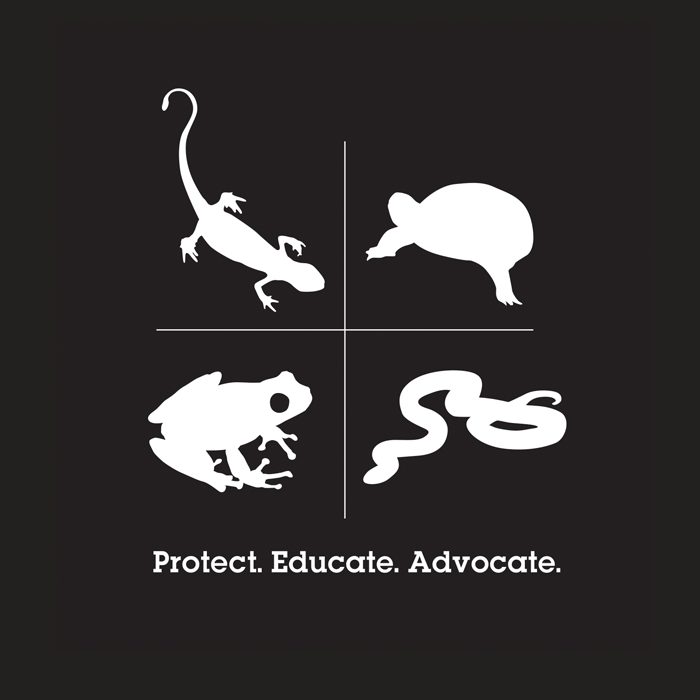 Ontario Nature t-shirt logo design with a lizard, turtle, frog and snake