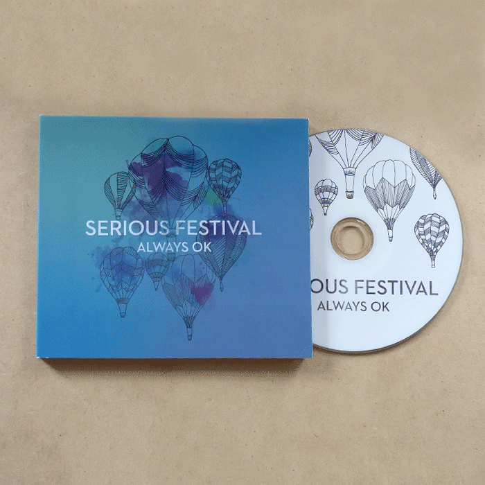 Serious Festival CD and case with hot air balloon design